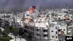 Город Хомс. Снимок предположительно был сделан в пятницу.