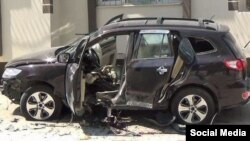 Suikast sonucu öldürülen ÖSO komutanı Cemil Radon'un aracı
