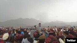 د پي ټي ایم یو مشر محسن داوړ په شمالي وزیرستان کې.