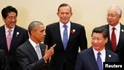 2014年11月11日亞太經合組織峰會奧習會資料照。