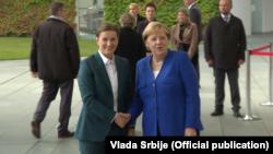 Predsednica Vlade Srbije Ana Brnabić sa nemačkom kancelarkom Angelom Merkel, Foto: official website