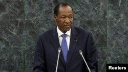 Mantan Presiden Burkina Faso, Blaise Compaore saat memberikan pidato pada Sidang Umum PBB 25 September 2013 (foto: dok).