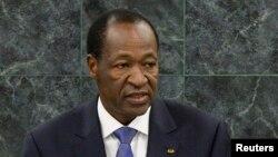 Blaise Compaoré l'ex-président du Burkina Faso, à la tribune de l'ONU, New-York. 25 septembre 2013.