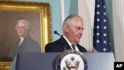 2017年8月15日,美国国务卿蒂勒森向媒体公布国务院年度国际宗教自由报告并发表讲话