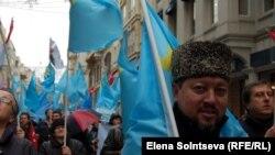 د کرائمیه تاتار مسلمانانو استنبول کې د روس خلاف احتجاج