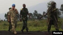 콩고에서 활동 중인 유엔 평화유지군. (자료사진)