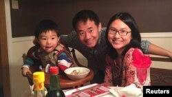 Ван Сиюэ со своей семьей (архивное фото)