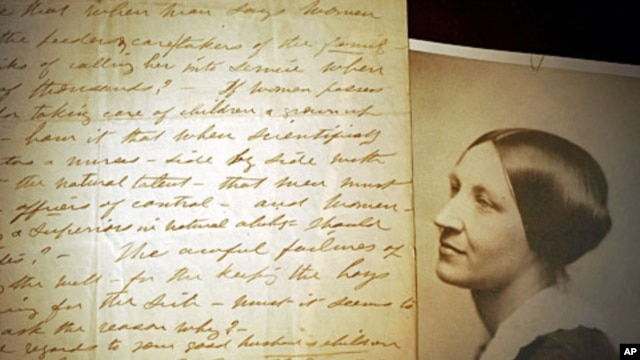 An original letter about male oppression of women's rights during the Spanish American War handwritten by Susan B. Anthony in 1898 at The Karpeles Manuscript Library Museum, in Buffalo, N.Y. (File)