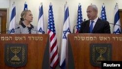 Хиллари Клинтон и Биньямин Нетаньяху. Иерусалим, Израиль. 20 ноября 2012 года