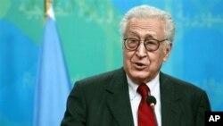 Utusan khusus PBB-Liga Arab untuk Suriah, Lakhdar Brahimi, mengatakan jika pemerintah Suriah mengambil langkah-langkah pertama untuk gencatan senjata, oposisi Suriah mengatakan kepadanya, mereka akan menanggapi secepatnya (foto, 15/10/2012).