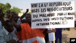 Dubban 'yan Nijar su na zanga-zanga a Niamey, babban birnin kasar