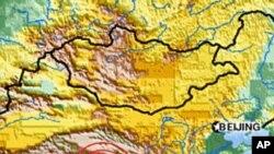 Map of Tibet earthquake, 14 Apr 2010
