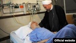 عیادت حسن روحانی از آیت الله خامنهای در بیمارستان