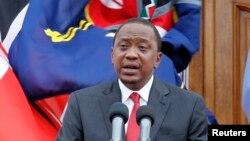 资料照片:肯尼亚总统肯雅塔