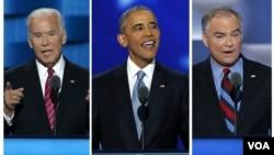 Joe Biden, Barack Obama eTim Kaine