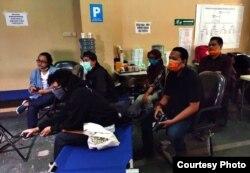 Kolaborasi jurnalis dari 7 media di Yogyakarta bersama menyusun laporan mendalam terkait penanganan pandemi di daerah. (foto: Febri Hari Waspodo)