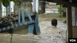 Vỡ đập Swar gây ngập lụt ở miền trung Myanmar, ngày 29/8/2018.