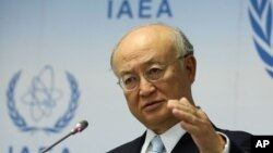 FILE - Director General of the International Atomic Energy Agency Yukiya Amano, of Japan.