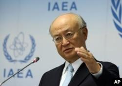 FILE - Director General of the International Atomic Energy Agency, IAEA, Yukiya Amano, of Japan.