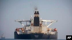 """停留在直布羅陀海岸外的伊朗油輪""""格雷絲1號"""""""