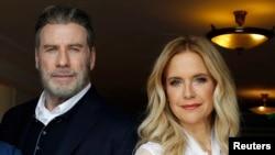 """John Travolta y Kelly Preston promocionan el filme """"Gotti"""" en el Festival de Cannes. Cannes, mayo 14 2018."""