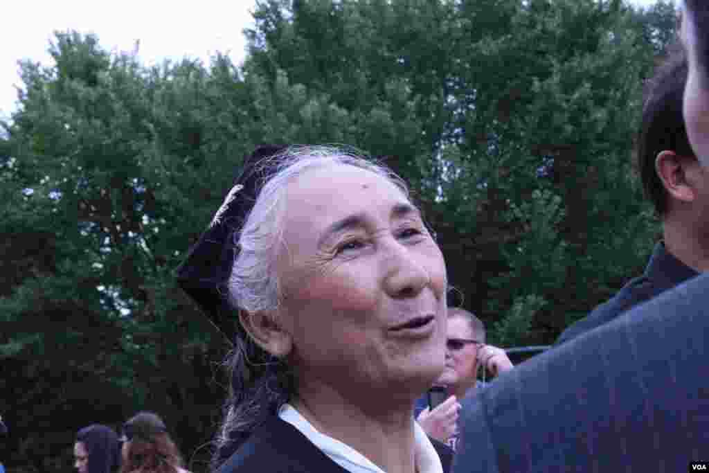 世界維吾爾代表大會主席熱比婭(美國之音鍾辰芳拍攝)