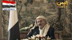 علی عبدالله صالح در تلویزیون عربستان سعودی. ۱۶ اوت ۲۰۱۱