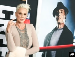 """Brigitte Nielsen attends the world premiere of """"Creed II"""" at the AMC Loews Lincoln Square in New York, Nov. 14, 2018."""