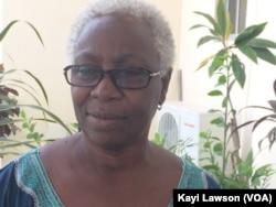Claire Quenum, présidente de Wildaf-Togo, à Lomé, au Togo, le 5 avril 2017. (VOA/Kayi Lawson)