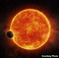 Artist's impression of the newly-discovered rocky exoplanet, LHS 1140b