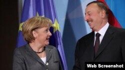 Almaniya kansleri Angela Merkel Azərbaycan prezidenti İlham Əliyev