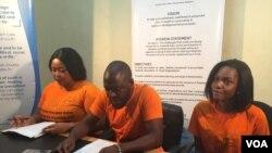 Abasakhulayo benhlanganiso yeNational Association of Youths Organisations- NAYO emhlanganweni wabo lentathelizindaba.