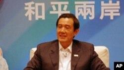 台灣總統馬英九2011年10月在一個記者會上(資料照)