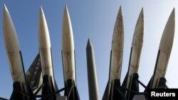 Phi đạn Scud-B của Bắc Triều Tiên trong Viện bảo tàng ở Seoul, Nam Triều Tiên.
