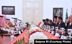 Pertemuan Bilateral RI dan Arab Saudi di Istana Bogor, 1 Maret 2017 (Foto courtesy : Setpres RI).