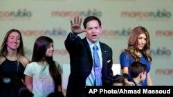 Le sénateur Marco Rubio annonçant sa candidature à la présidentielle de 2016