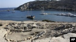 The ruins of an ancient commercial harbor located near Datca, Turkey. Some scientists believe the Indo-European language family, which includes English, began in Turkey.