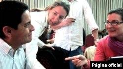 Académicos becados por la iniciativa Nexus del programa Fulbrigh, durante una reunión en Argentina.