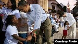 El presidente Barack Obama en Cartagena de Indias, Colombia, durante la VI Cumbre de las Américas (Foto:WHA).