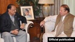 Firayim Ministan Pakistan Nawaz da shugaban kasa Manoon Hussain Aiwan.