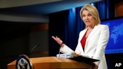 Juru bicara Departemen Luar Negeri AS, Heather Nauert (foto: dok).