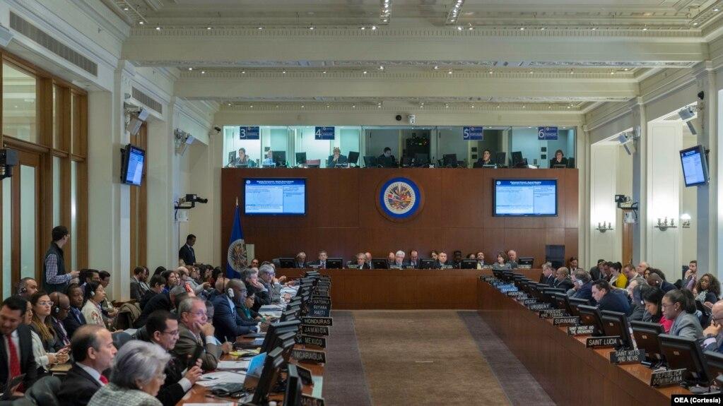 La sesión especial fue solicitada por Argentina, Brasil, Canadá, Chile, Costa Rica, Estados Unidos, Guatemala, Honduras, México, Panamá, Paraguay y Perú.
