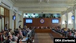 La sesión especial de la OEA fue solicitada por Argentina, Brasil, Canadá, Chile, Costa Rica, Estados Unidos, Guatemala, Honduras, México, Panamá, Paraguay y Perú.