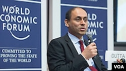Co-author of the Global Technology Report Soumitra Dutta. (World Economic Forum/Ben Hider )