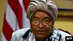 Madaxweynihi hore ee Liberia Ellen Johnson Sirleaf, Morovia, 12 February 2018.