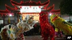 Perayaan Tahun Baru Imlek di Los Angeles, AS (foto: dok).