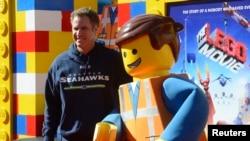 """Aktor Will Ferrell menghadiri pemutaran perdana film """"The Lego Movie"""" di Los Angeles (1/2). (Reuters/Phil McCarten)"""