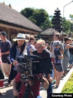 """Sutradara Livi Zheng saat syuting film """"Bali: Beats of Paradise"""" di Bali (Dok: Livi Zheng)"""