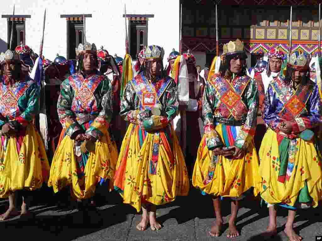 Ceremonial guards, November 05, 2008 (Photo/VOA - S. Herman)