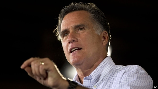 Republican presidential candidate and former Massachusetts Gov. Mitt Romney speaks during a campaign stop at LeClaire Manufacturing in Bettendorf, Iowa, August 22, 2012.